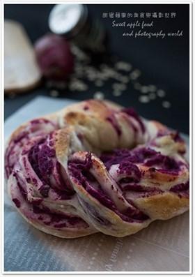 紫薯燕麥包